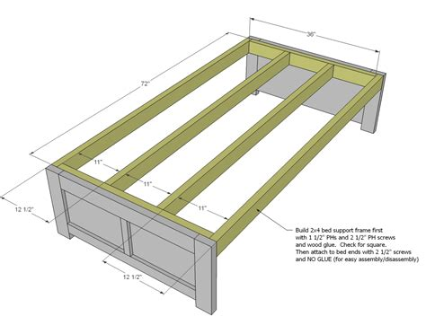 daybed with storage woodworking plans woodshop plans