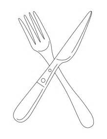 Knife And Fork Coloring Page sketch template