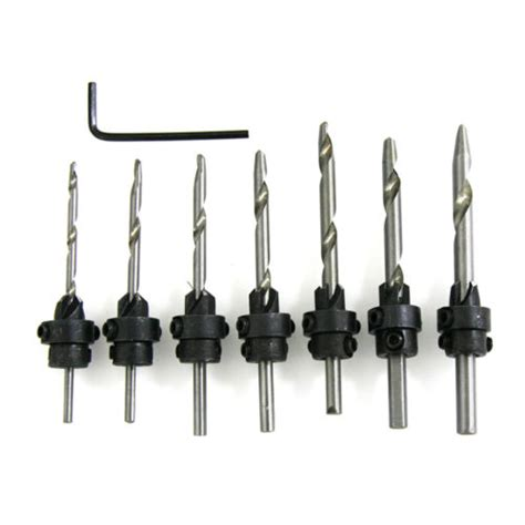 pc countersink drill bit set woodworking tools carpenter