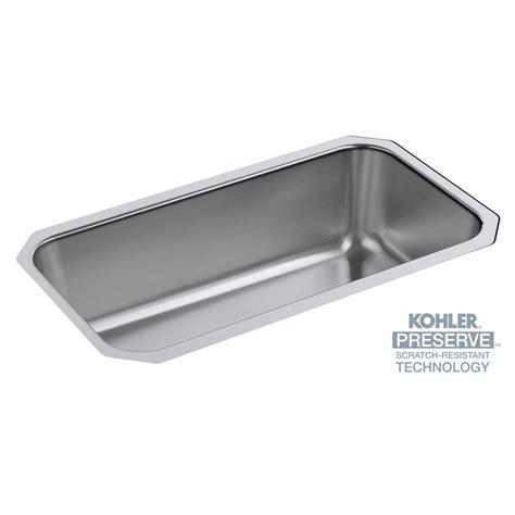 Knop Panci Stainless Mt 31 kohler undertone preserve undermount scratch resistant stainless steel 31 in single basin