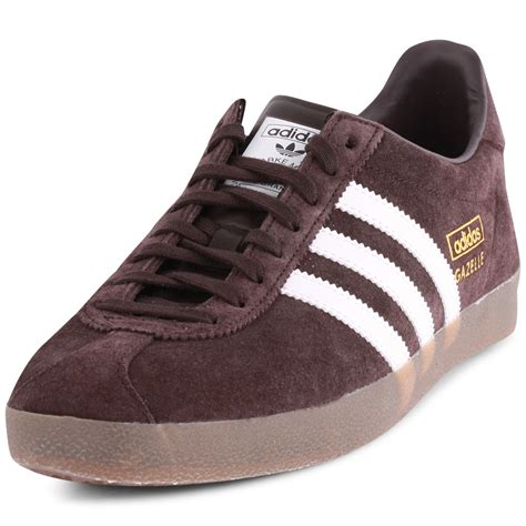 adidas gazelle og mens suede wine trainers new shoes all