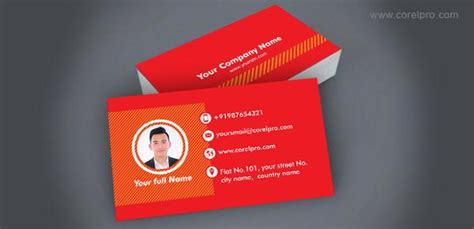 Company Id Card Template Cdr by Business Card Template In Corel Draw Format For Free