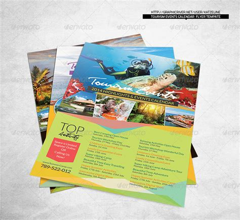 templates flyers indesign tourism events calendar flyer template event calendar