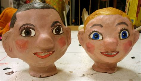How To Make Paper Mache Puppets - portable puppet theatres and puppets