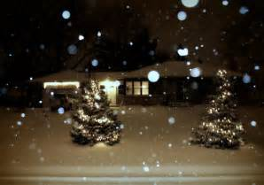 christmas lights falling snow this is the house i grew