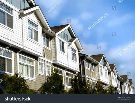 modern homes real estate retirement investment stock photo