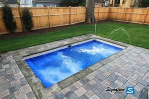 palladium plunge model pool leisure pools signature fiberglass pools chicago swimming