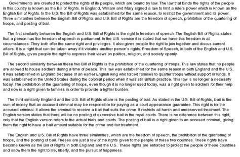 Bill Of Rights Essay by Comparison On The Us Bill Of Rights And The Bill Of Rights At Essaypedia