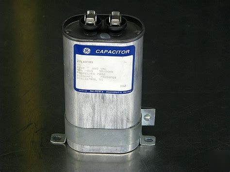 ge capacitor with dielektrol fluid ge dielektrol capacitor 12 uf 27l6018s w base mount