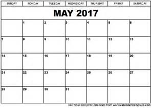 blank may 2017 calendar weekly calendar template
