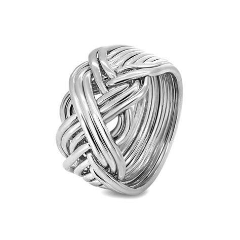 mens silver 10b m puzzle rings creations
