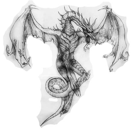 winged dragon tattoo designs beautiful grey ink open wings design