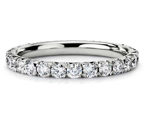 pav 233 eternity ring in platinum 1 ct tw