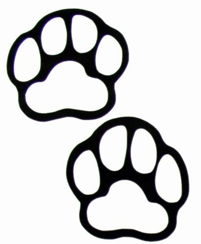white paw prints clipart best