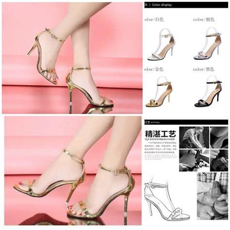 Sepatu Wanita Sendal Pesta High Heels Gold 14 jual shha169 gold sepatu heels pesta 9cm grosirimpor