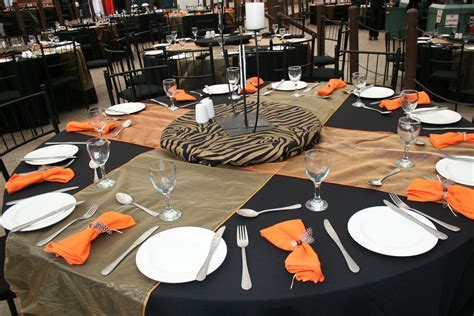 Table set up with an African theme.   Function ideas