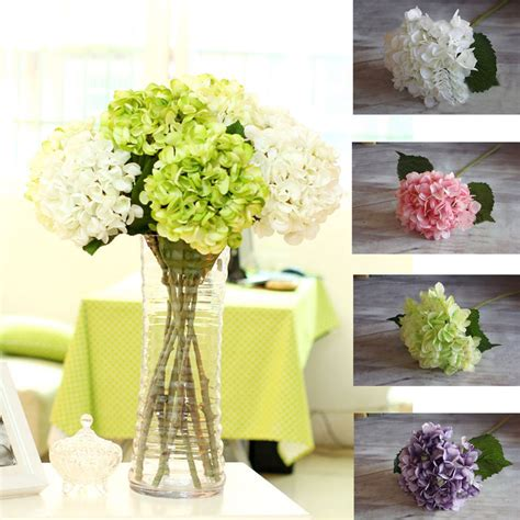 artificial flower for home decor artificial fake peony silk flower bridal hydrangea home
