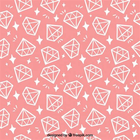 pink pattern free vector pink pattern with flat diamonds vector free download