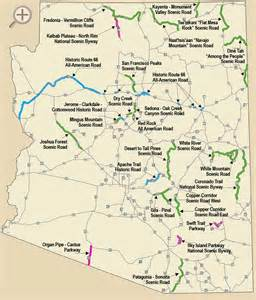 Southern Arizona Map by Arizona Scenic Roads See For Yourself Why The Scenic