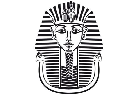 King Tut Mask Template by Wall Decal Tutanchamun Pharaoh Mask Vinyl Decor
