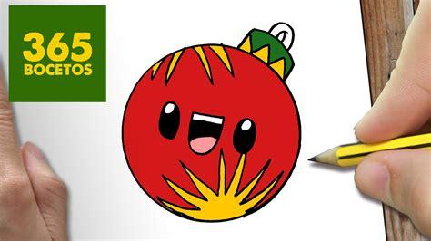 imágenes de navidad kawaii como dibujar una bola para navidad paso a paso dibujos