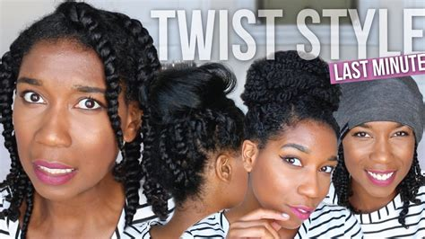 bed time hairstyles last minute fix styling bedtime two strand twists easy
