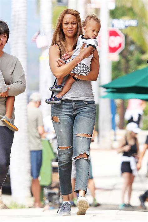 Tyra Banks And Son York Sandra Rose
