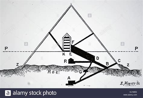great pyramid cross section cheops pyramid illustration stock photos cheops pyramid
