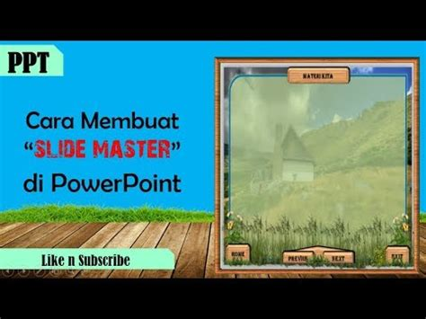 tutorial membuat game powerpoint tutorial cara membuat slide master di powerpoint youtube
