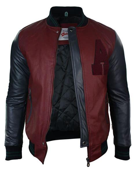 mens designer varsity jacket mens baseball varsity jacket bomber pu leather a design