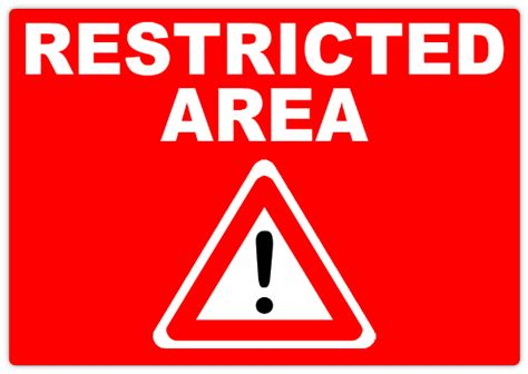 restricted areas restricted area 102 restricted safety sign templates templates click on a category below to