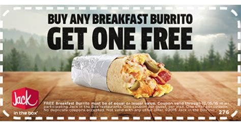 Jack In The Box Sweepstakes - jack in the box bogo free breakfast burrito coupon shareyourfreebies