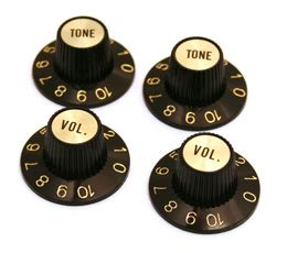 White Witch Hat Knobs by Guitar Witch Hat Knobs