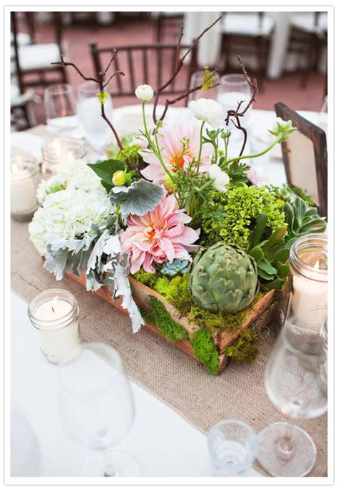 centerpieces with succulents quaint california cottage wedding bryan real weddings 100 layer cake