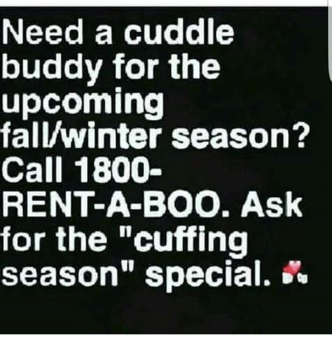 Cuddle Buddy Meme - need a cuddle buddy for the upcoming fallwinter season call 1800 rent a boo ask for the