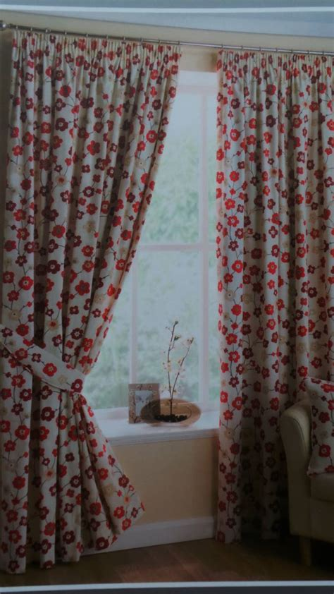 red cotton curtains sakura red 100 cotton curtains fully lined with option of
