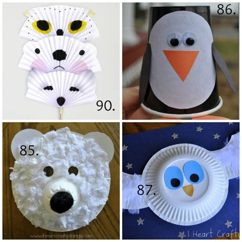 Winter Animal Crafts - 100 winter crafts to beat the winter blues make