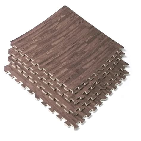 Puzzle Foam Mats by Interlocking Wood Mats Soft Foam Exercise Floor