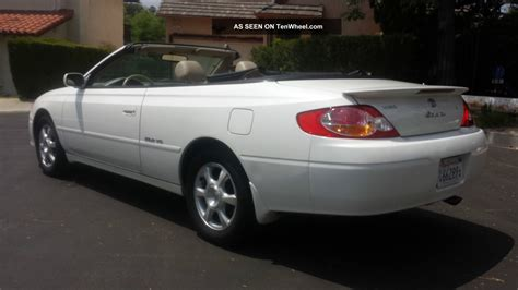 toyota solara 2003 2003 toyota solara sle convertible pearl white with interior