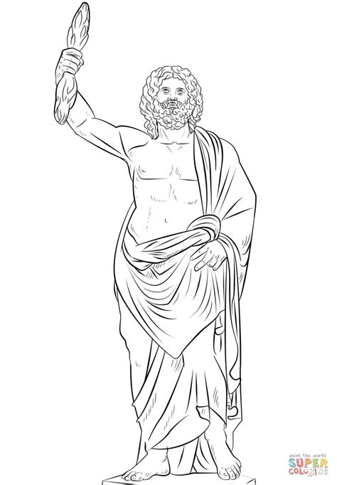 printable coloring pages of zeus dibujo de zeus el dios griego para colorear dibujos para