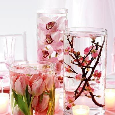 Flower Water Vase Centerpiece by Centerpieces I This Idea Flowers In Vases Of Water