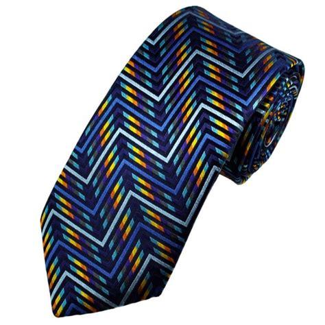 Limited Editions 7753 Silk Zigzag buck platinum shades of blue zig zag stripe silk