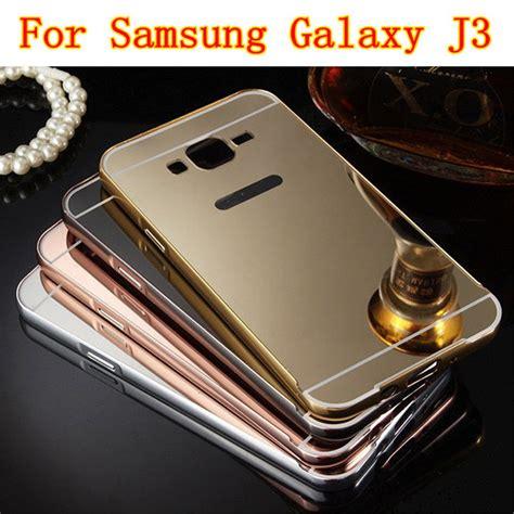 Luxuary Arclylic Glossy Samsung J3 Pro 1 for samsung galaxy j3 high quality luxury electroplating mirror design aluminum frame