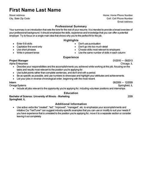 Free Resume Templates Fast Easy Livecareer Resume Template