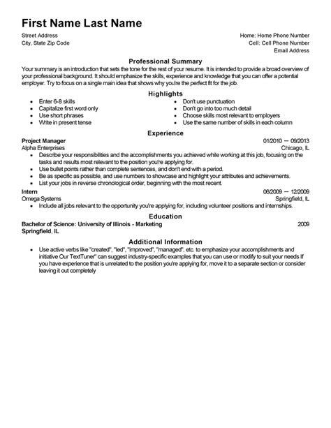 [Comprehensive Resume Template] Comprehensive Resume