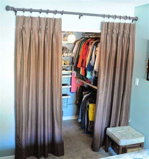 bedroom closet curtains organizing made fun