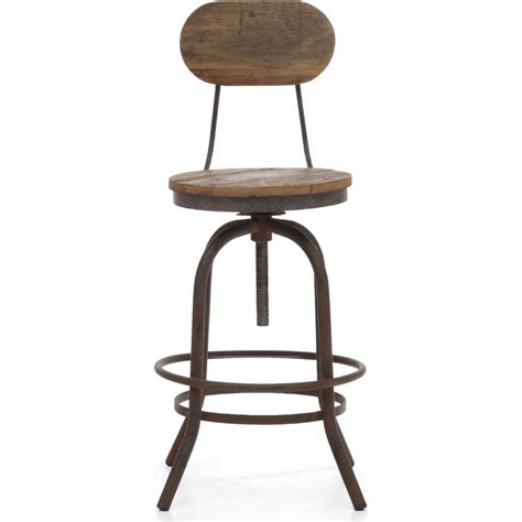 Peaks Bar Stool by Zuo Era Peaks Counter Height Chair Distressed