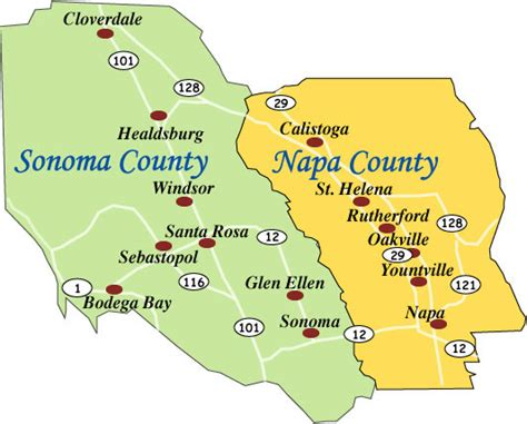 sonoma valley map the difference between napa and sonoma small lot wine tours