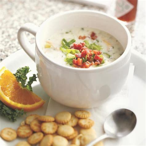 best new clam chowder new clam chowder recipe eatingwell