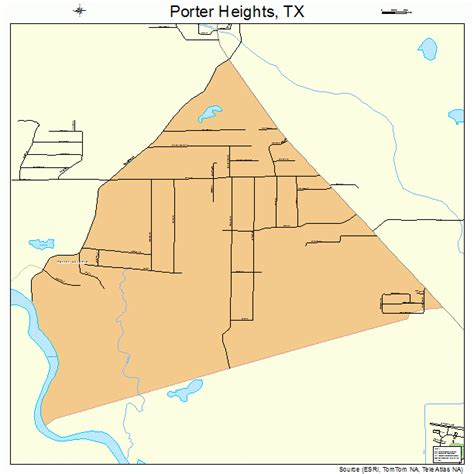 porter texas map porter heights texas map 4858850